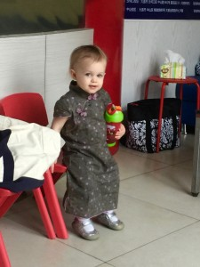 Little Rou in her Chinese Qipao